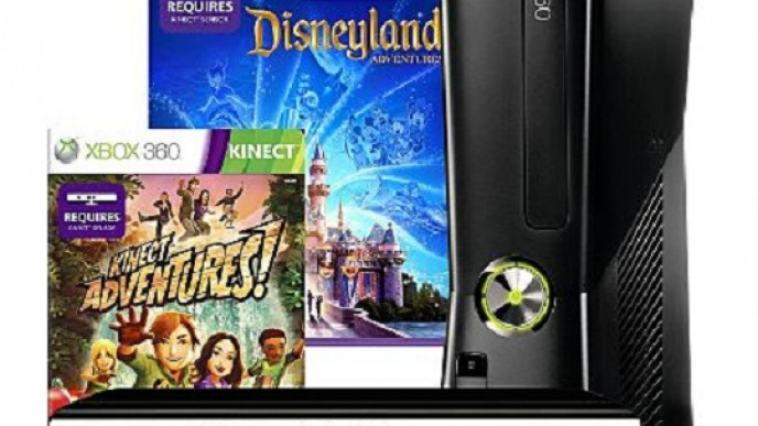 Xbox 360 4GB Console With Disneyland Adventures, Kinect