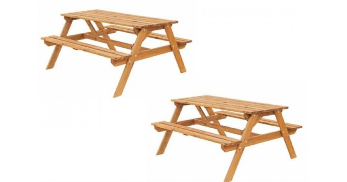 Clearance Now On Batam Timber Picnic Bench 163 35 B Amp Q