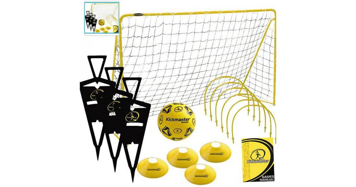 New Kickmaster Ultimate Football Challenge Set Figures,Hoops,Training Cones Goal