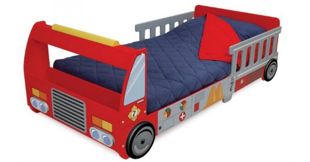 KidKraft Toddler Fire Truck Bed £119.89 with Free Delivery ...
