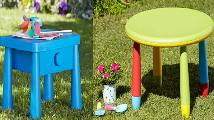 Childrens School Deskoutdoor Dining Table 10 At Asda George