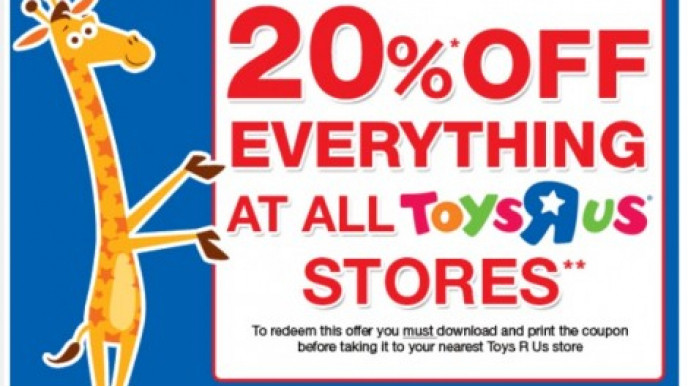 photograph regarding Toys R Us Printable Coupons identify Toys R Us Coupon: 20% Off Instore