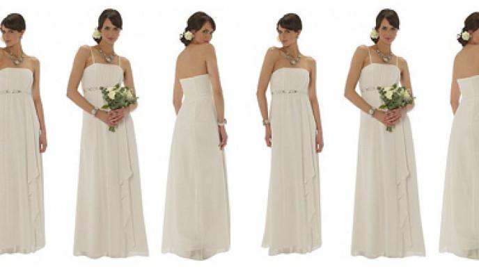 outlet for sale buy best half off Jewel Embellished Chiffon Wedding Dress £45 @ ASDA