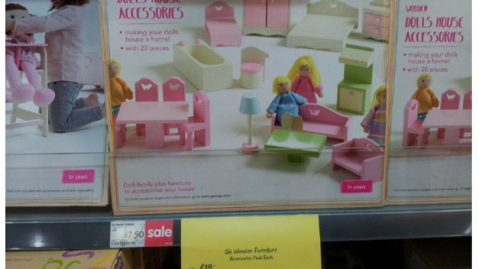 Wooden Dolls House Furniture Set Was 15 Now 750 In Store Only At Asda