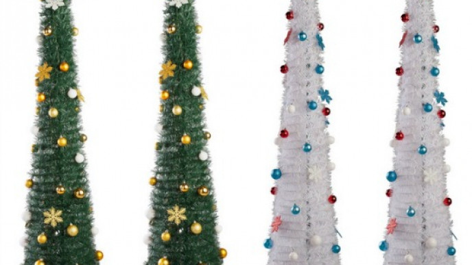 Pop Up 6ft Green White Christmas Trees 15 94 14 94 Delivered Ebay