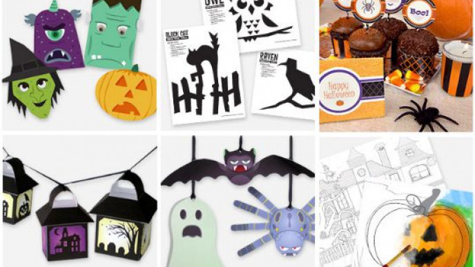 picture about Halloween Printable Decorations referred to as Cost-free Halloween Printable Decorations, Colouring Sheets