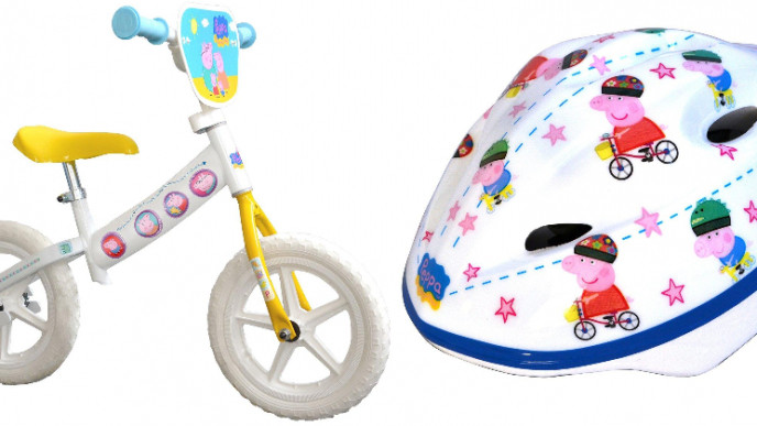 1 2 Price Peppa Pig 10 Balance Bike Peppa Pig Helmet Now 24 99