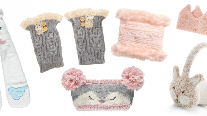 Pink//Black O//S Kate Spade Girls Faux-Fur Velvet Bow Earmuffs