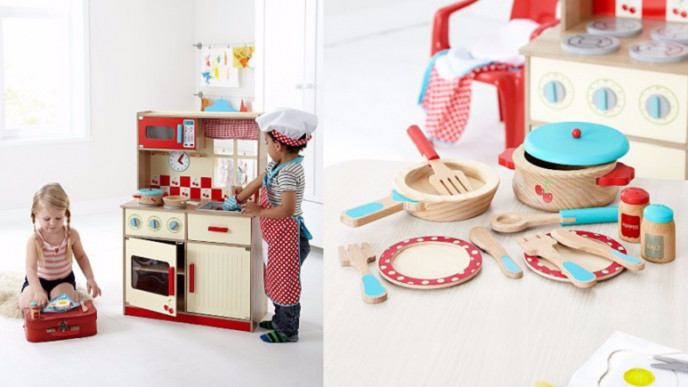 6c5bee38ef19 George Home Wooden Kitchen and Cooking Set Bundle £41.60 @ Asda George