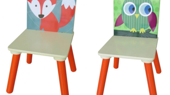 Kids Owl Or Fox Wooden Chair Now 8 Hobbycraft