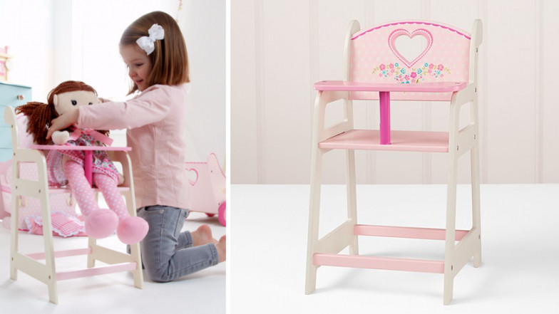 George Home Wooden Pink Highchair 12 At Asda George Expired