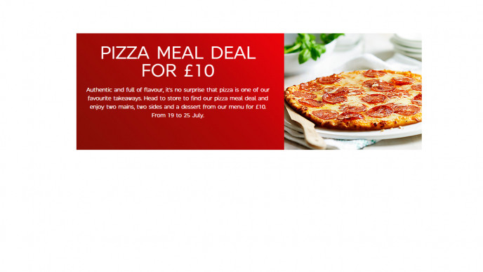Pizza Meal Deal 10 At Marks And Spencer