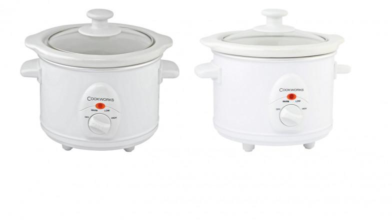 Cookworks 1.5L Compact Slow Cooker Black.