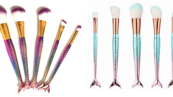 5 Piece Mermaid Makeup Brush Set £7.99 @ Wowcher