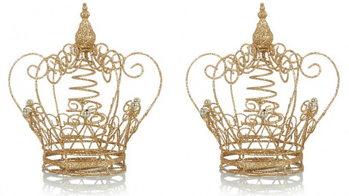Glitter Crown Christmas Tree Topper £7 @ Asda George
