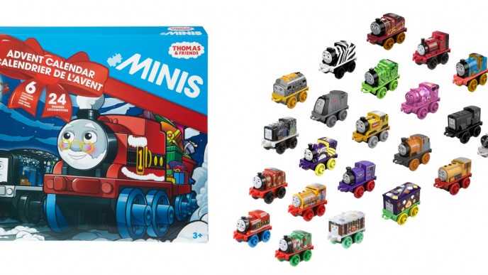thomas friends minis advent calendar 10 was 30. Black Bedroom Furniture Sets. Home Design Ideas