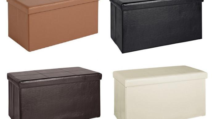 Terrific Large Faux Leather Ottomans Now From 12 99 Argos Machost Co Dining Chair Design Ideas Machostcouk