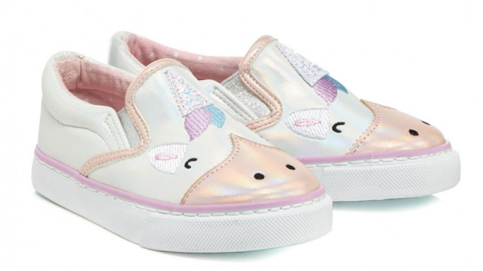 Bluezoo Kids Baby Girls/' Pink Glitter Unicorn Trainers