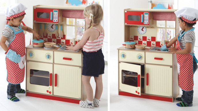 Deluxe Wooden Play Kitchen 163 28 Asda George
