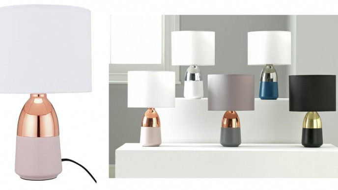 2 For £15 Rose Gold & Pink Touch Table Lamps @ Argos