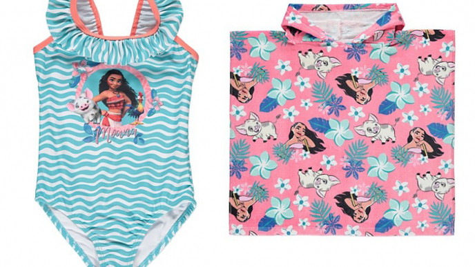 5a433806c9 Disney Moana Hooded Poncho Towel & Swimsuit Set From £10 @ Asda George