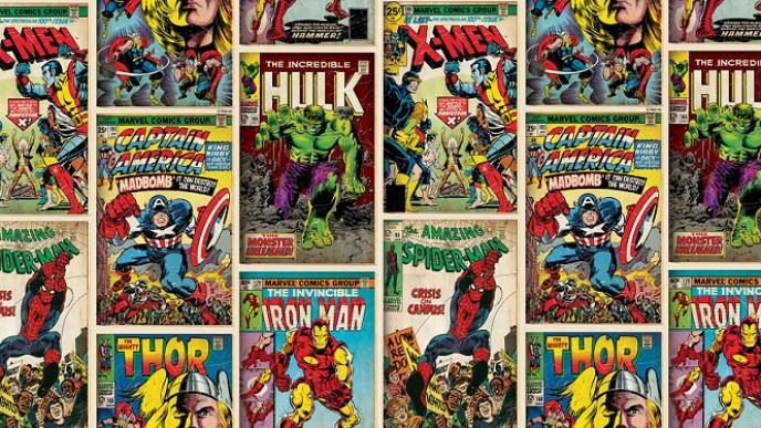 Marvel Superheroes Wallpaper £7 @ Wilko