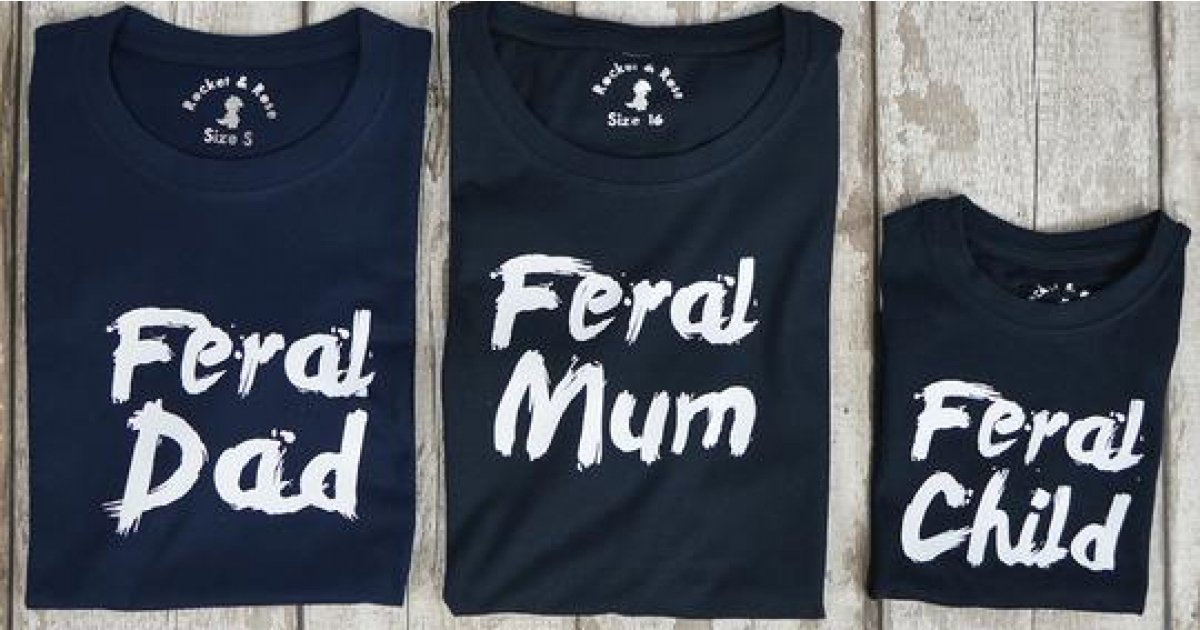 Feral Child T-Shirt £5 (Today Only) @ Etsy Store: Rocket & Rose