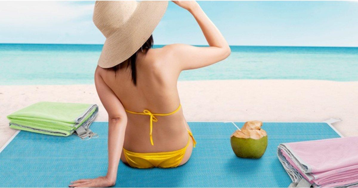 No Sand Jumbo Beach Mat Now £7.99 @ Groupon
