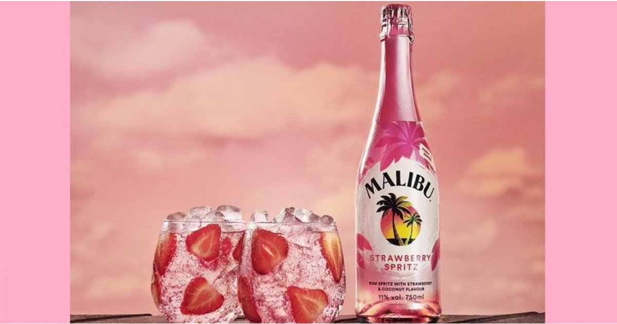 Welcome The New Addition To The Malibu Family - Strawberry Spritz
