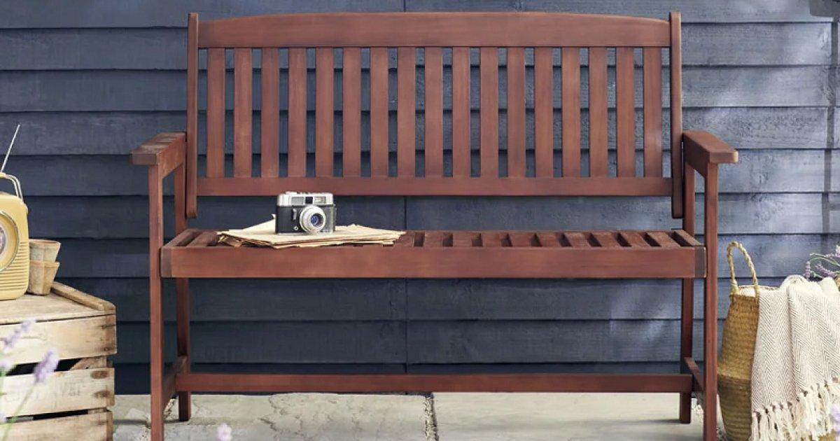 FSC Wooden Bench £40 (was £50) @ Wilko