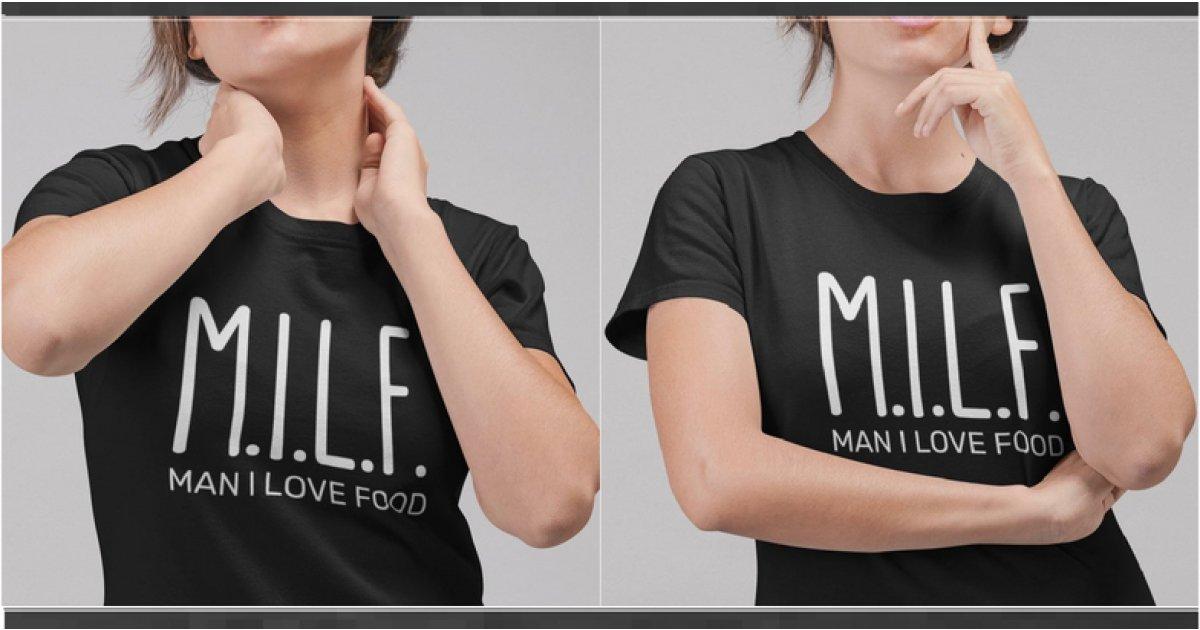 Man I Love Food (MILF) T-Shirt £7 Delivered @ Etsy