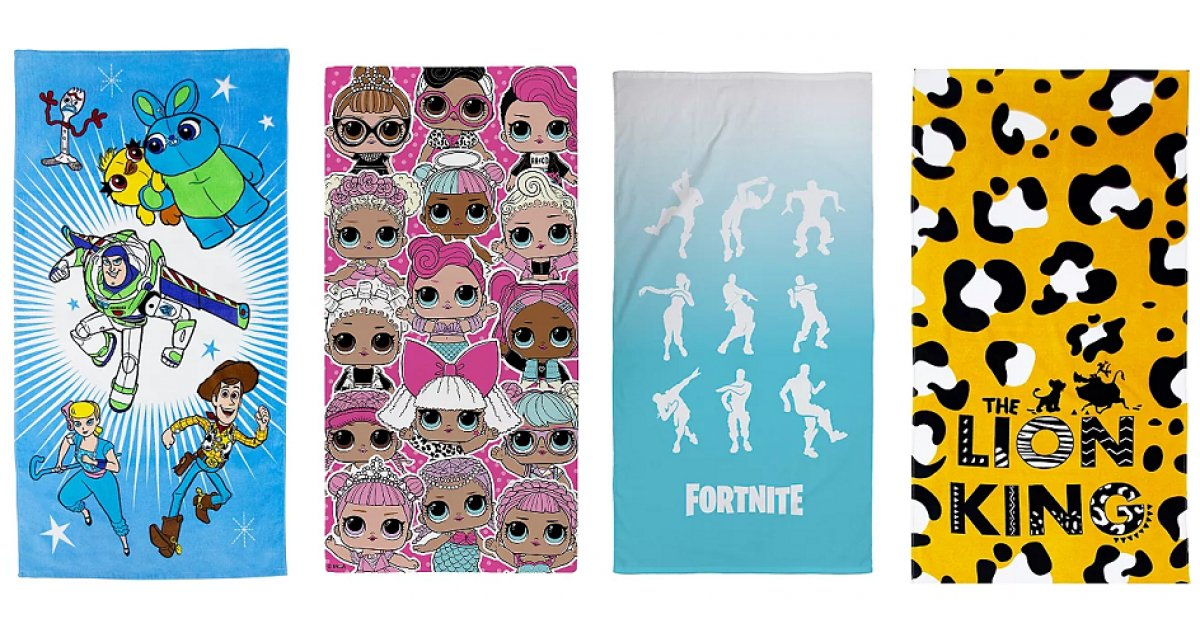 Character Beach Towels £7 Each @ Asda George