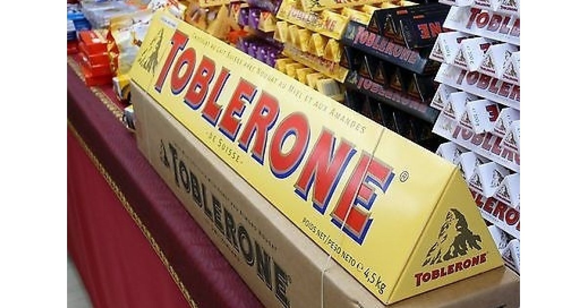 GIANT Toblerone Milk Chocolate Bar (4.5kg) £73.99 @ Amazon