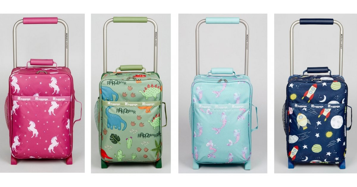 8eeaf45c4 IT Luggage Kids Cabin Case Mermaids, Dinosaurs, Unicorns or Space Print £26  @ Matalan